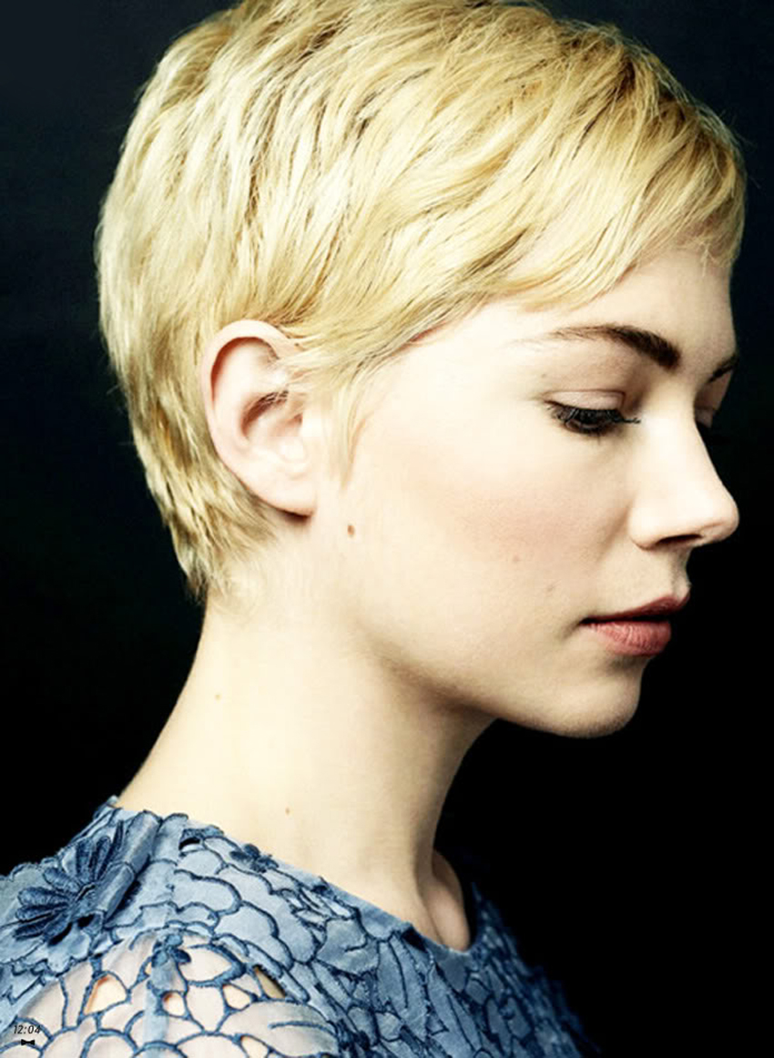 Michelle Williams Has A Beautiful Profile. Her Pixie Hair Cut Really ... Michelle Williams