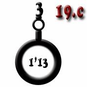 Ejemplo 19.d: Obús (x3) de calibre 1'13