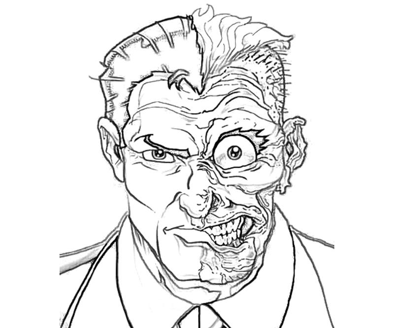 batman-arkham -city-two-face-coloring-pages