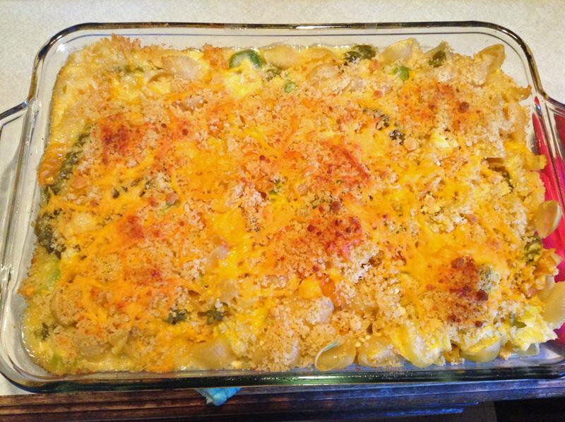 baked mac n cheese with leeks