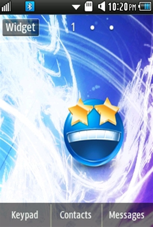 Other Cute, Blue Smiley Samsung Corby 2 Theme 2 Wallpaper