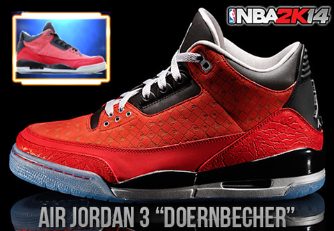 NBA 2K14 Air Jordan 3 Doernbecher Shoes Patch