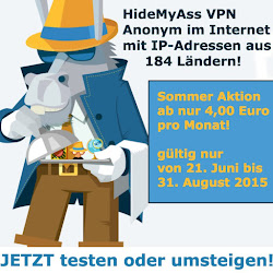 HideMyAss VPN Sommeraktion 2015