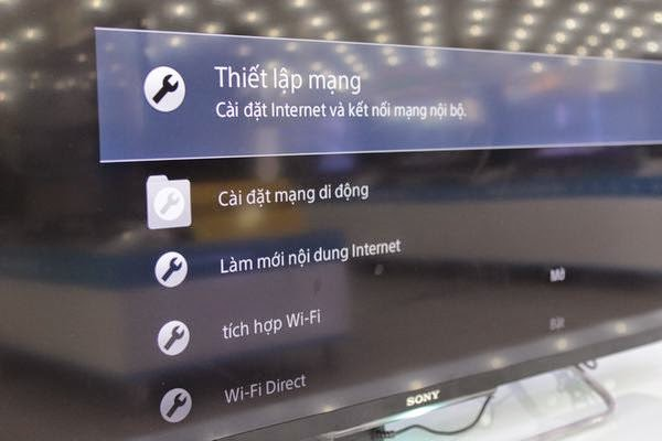 Hướng dẫn kết nối mạng cho Tivi Sony qua wifi 3