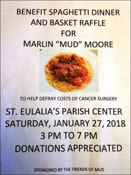1-27 Mud Moore Benefit Dinner