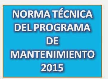 PROGRAMA DE MANTENIMIENTO DE LOCALES ESCOLARES 2015