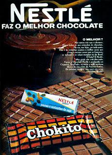 propaganda chocolate Nestle - 1972.1972; os anos 70; propaganda na década de 70; Brazil in the 70s, história anos 70; Oswaldo Hernandez;
