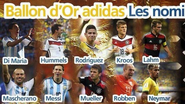 قائمة 10 لاعبين مرشحين للفوز بجائزة افضل لاعب في كاس العالم