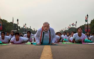Narendra Modi Yoga Asana