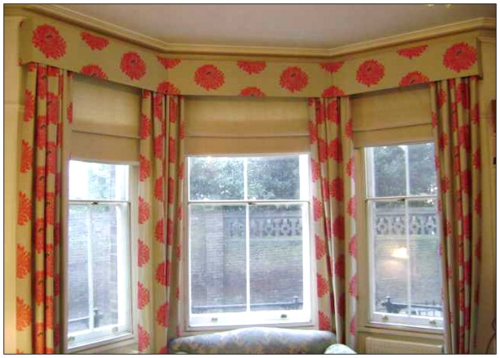 Window treatments on pinterest modern windows bay for Ideas for bay window treatments