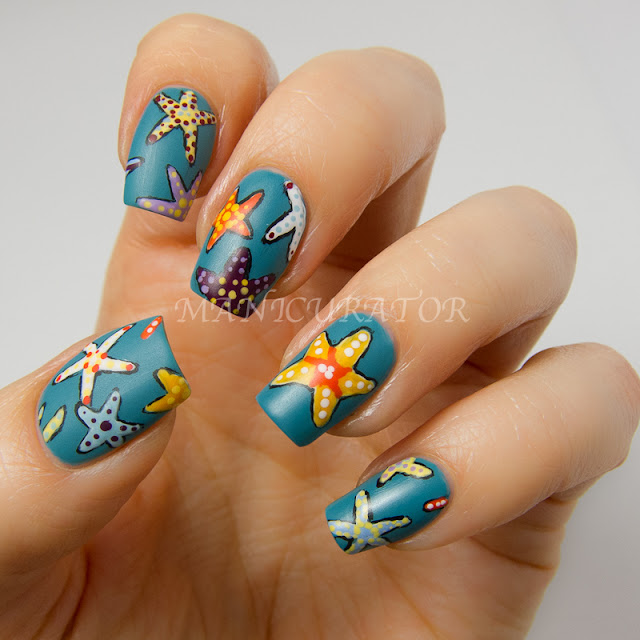 manicurator: Starfish Nail Art Plus Tutorial with Picture ...
