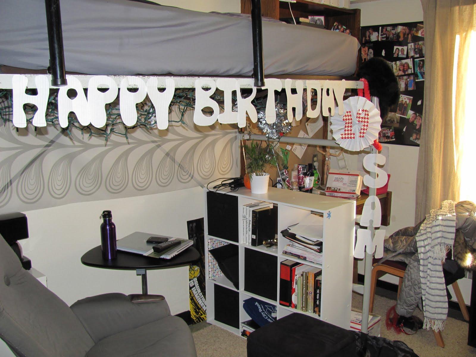 Beautiful Dorm Room Birthday Decorations Photo Gallery