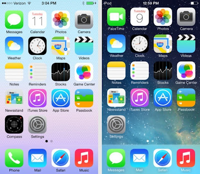 Apple Release IOS 7 For it's Devices And IOS 7.01 For Iphone 5S and 5C