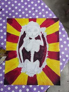 Totenmaske Acryl