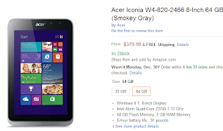 Acer Iconia W4-820-2466 64GB Model
