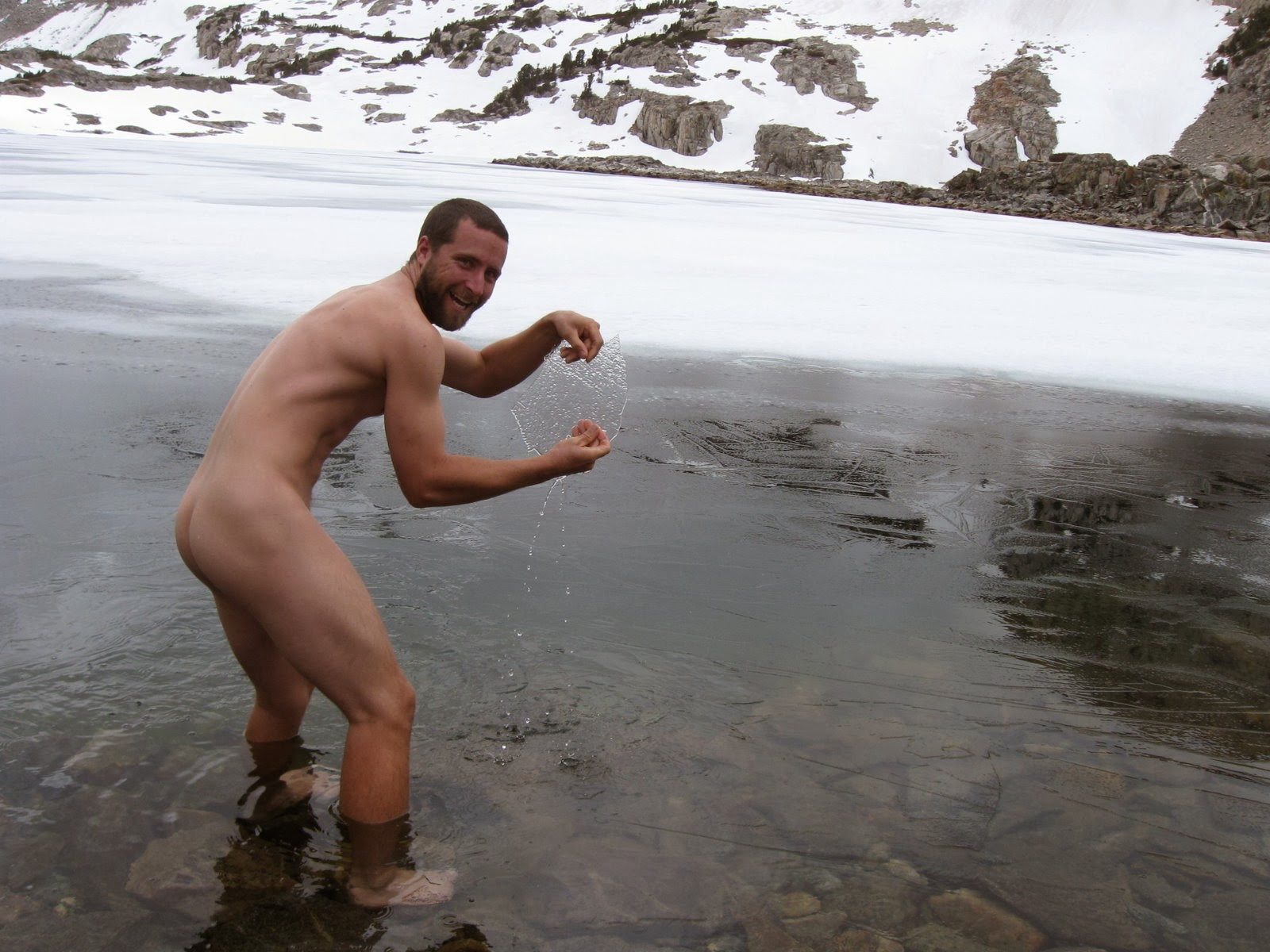snow Gay men naked