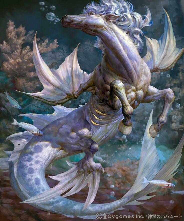 Lectura en las alturas hipocampos los caballos del mar - Mitologia greca mitologia cavallo uomo ...