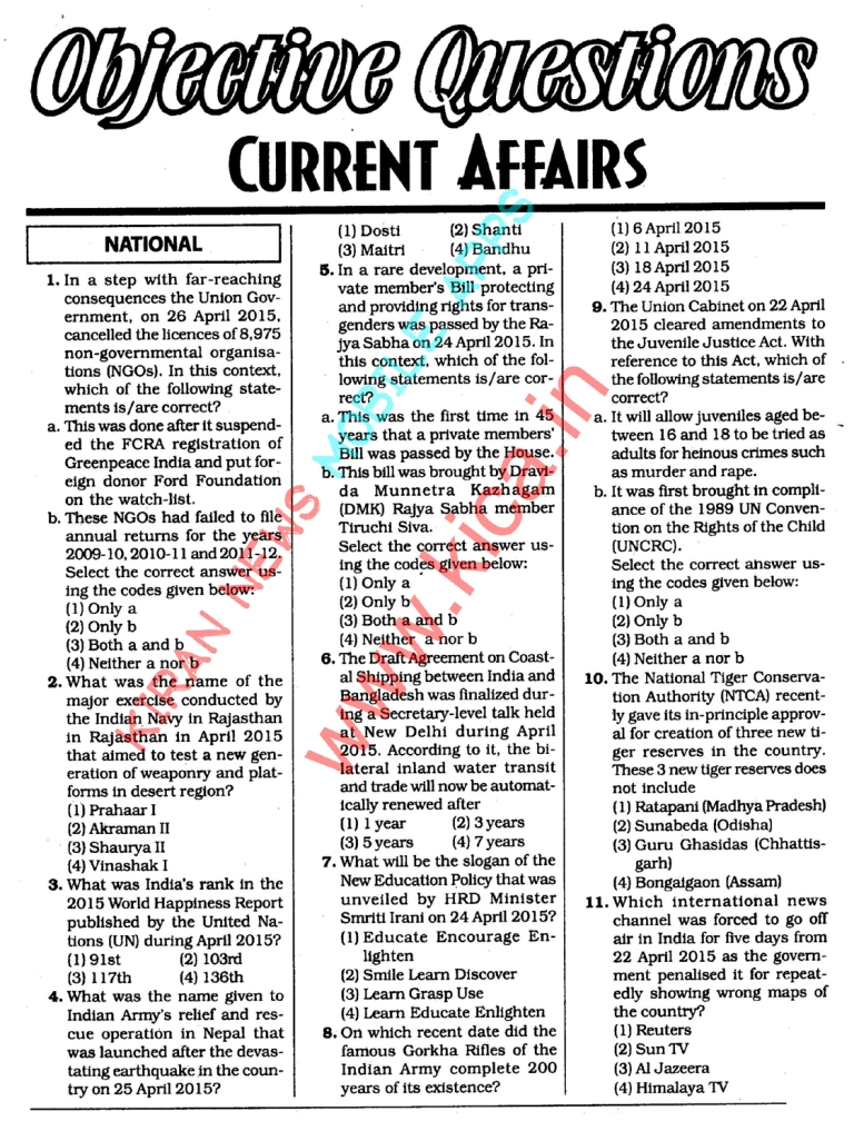 English Essay Topics On Current Affairs