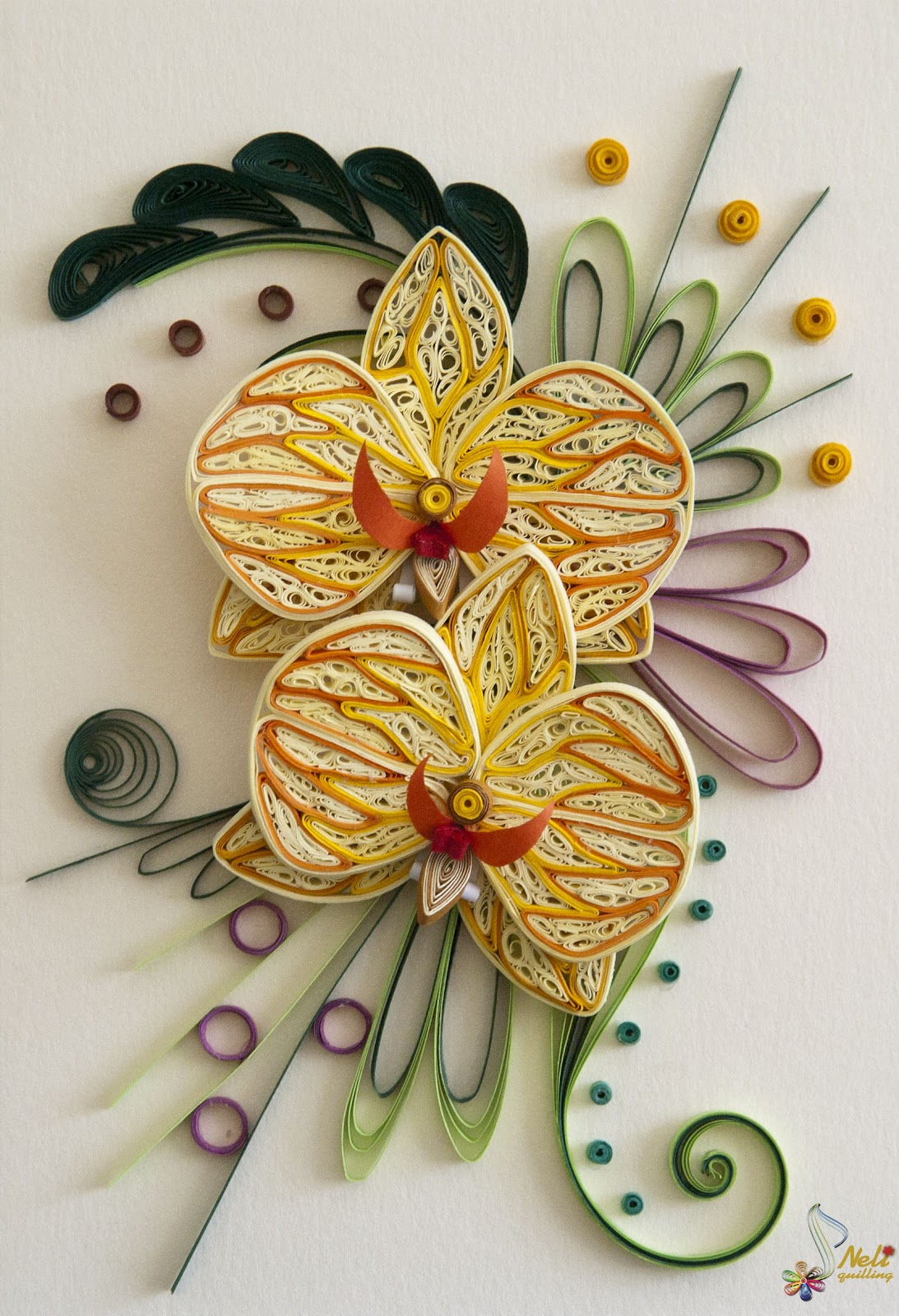 Neli quiling card flowers repin by pinterest for ipad for Quilling how to