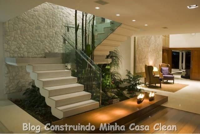 ideias jardim exterior:Construindo Minha Casa Clean: Paredes com Pedras!!! Canjiquinha