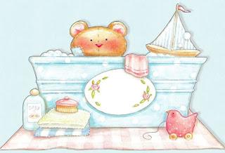 oso en bañera