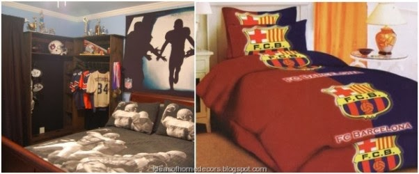 Boys Football Bedroom Ideas boy's football bedroom themed decoration ideas