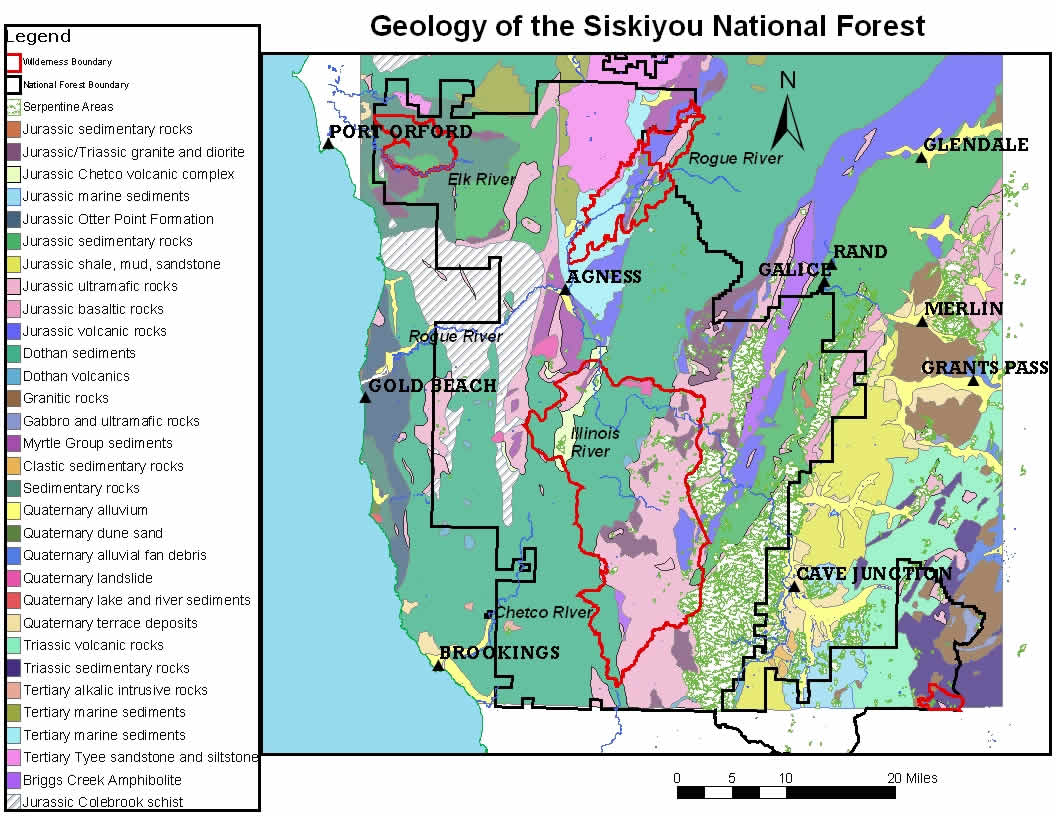 http www fs fed us r6 rogue siskiyou recreation geology maps shtml