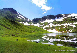 Dudiptsar Lake or Dudipat Lake is a lake encircled by snow clad peaks in Lulusar-Dudipatsar National Park.