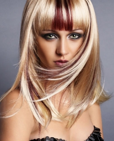 Blonde Hair with Red Highlights 2014