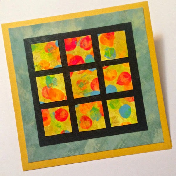 fingerprint mosaic handmade greeting card lisalizalou.com
