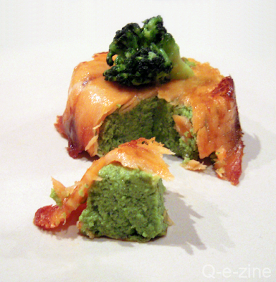 timbale de saumon fumé et brocolis