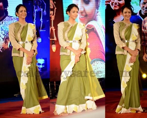 Lakshmi Manchu Pretty Designer Saree