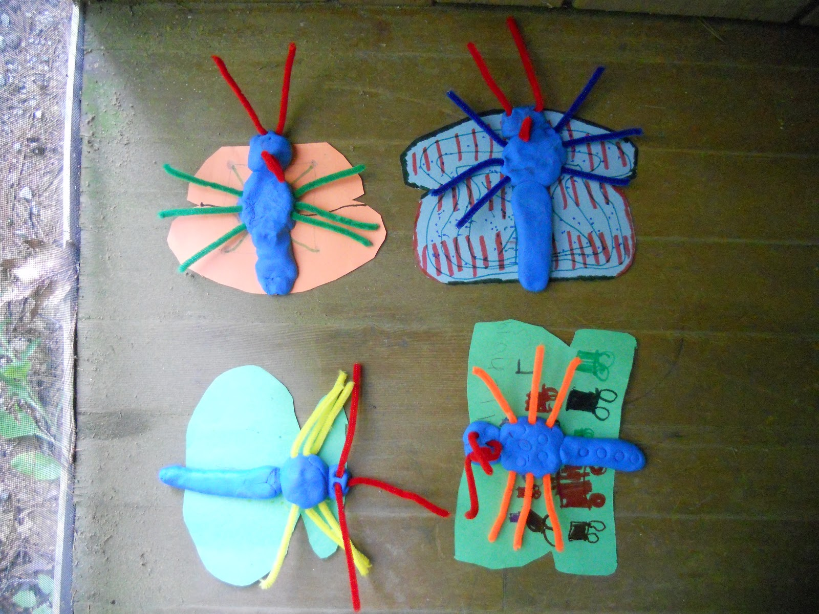 Create art with mrs p clay and paper butterflies for Paper clay projects