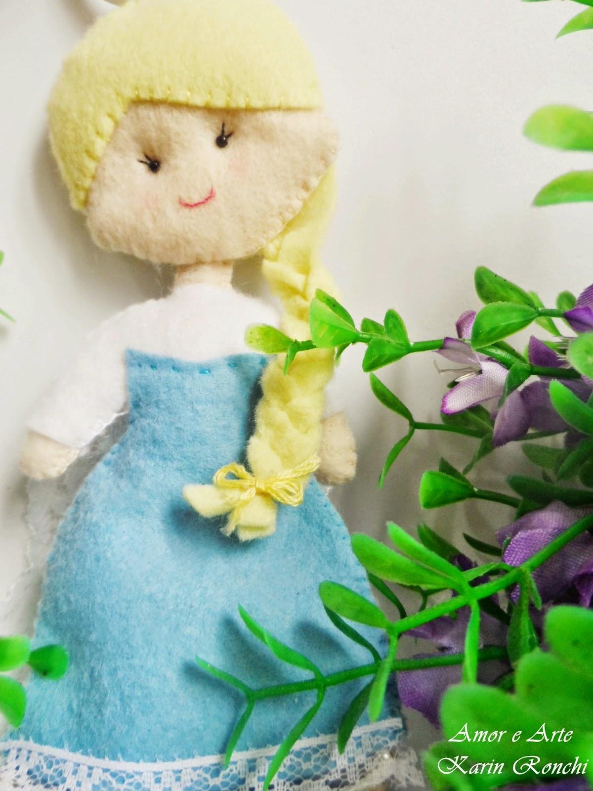Princesa Elsa (Frozen), em feltro