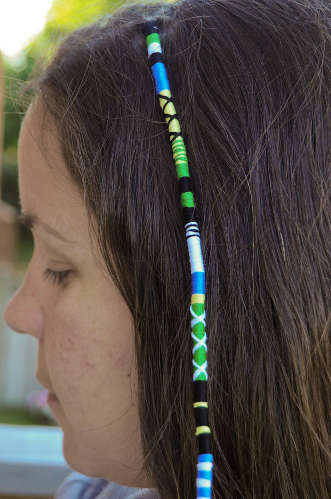 Hair Wraps With String Designs