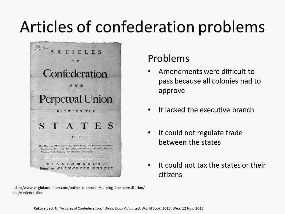 the flaws and problems of the articles of confederation The articles of confederation and the united states  flaws in the articles of confederation:  attempts to fix the problems associated with the articles of.