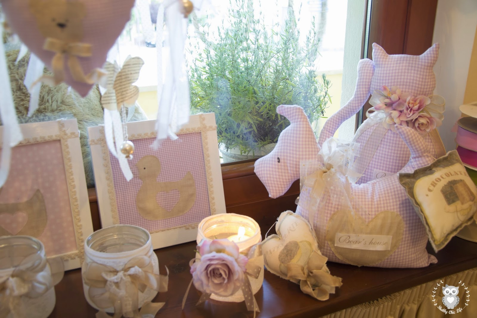 cucito creativo, shabby chic, bear's house