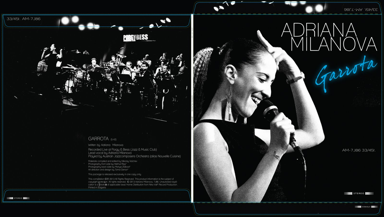 Jazz vinyl cover, design and prepress