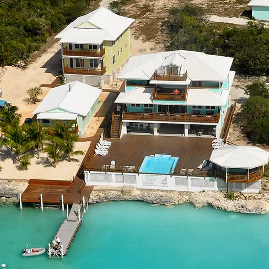 Bahamas Commercial Real Estate - Boutique Waterfront Hotel for Sale - Aerial View