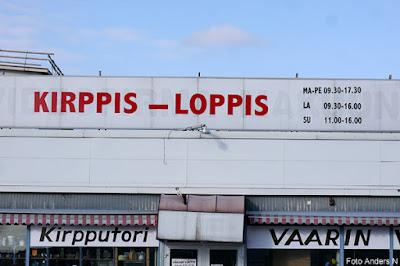 Kirppis, Finsk loppis, loppmarknad på finska