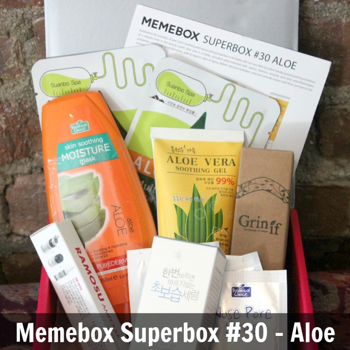 Memebox Superbox #30 Aloe Vera Unboxing Review