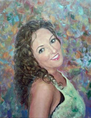 retrato mujer femenino pintora Rudi
