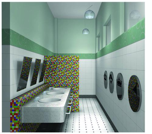 Banheiro Feminino -> Banheiro Escolar Feminino