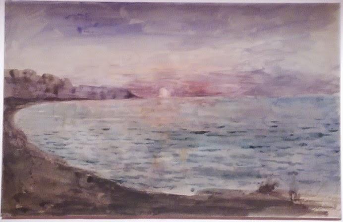 peinture impressionniste Monet Eugene Delacroix Falaise toile Musée Marmottan 2014
