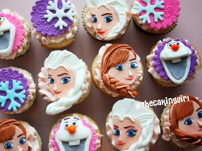 pretty frozen elsa cupcake toppers, pretty frozen anna cupcakes
