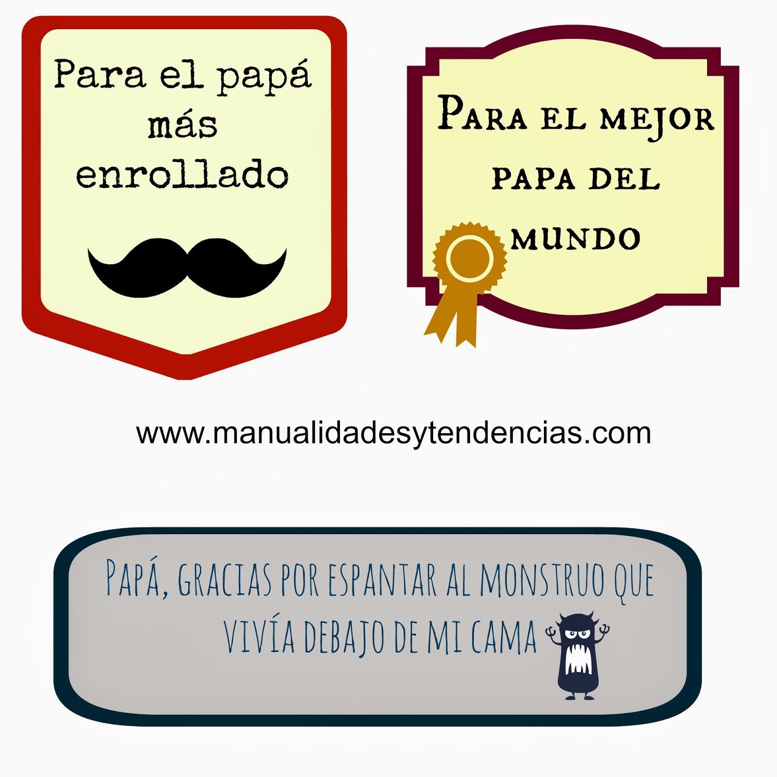 Etiquetas descargables e imprimibles gratis para el día del padre