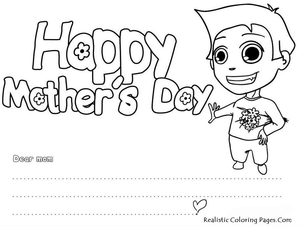 Coloring Birthday Cards For Mom Coloring Pages