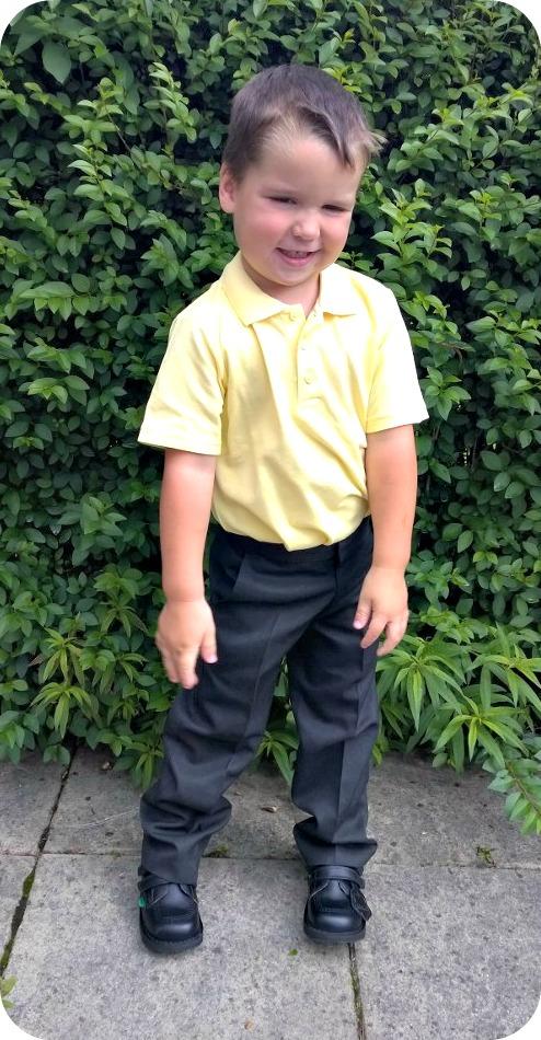 Bud in school uniform