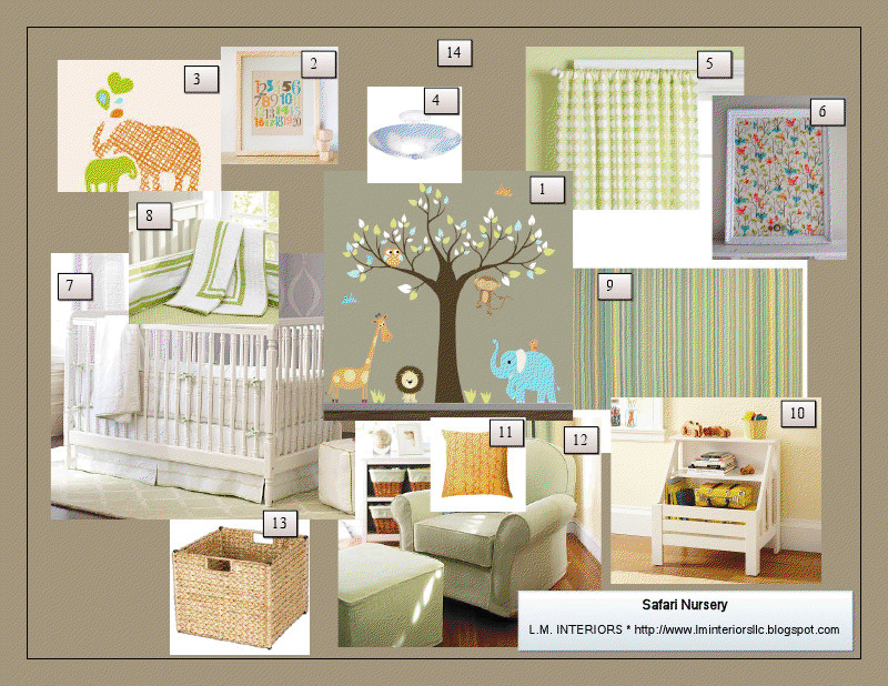 A Room with A View: Safari Nursery Design Board