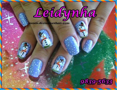 UNHAS DECORADAS NATALINAS COM LEIDYNHA3